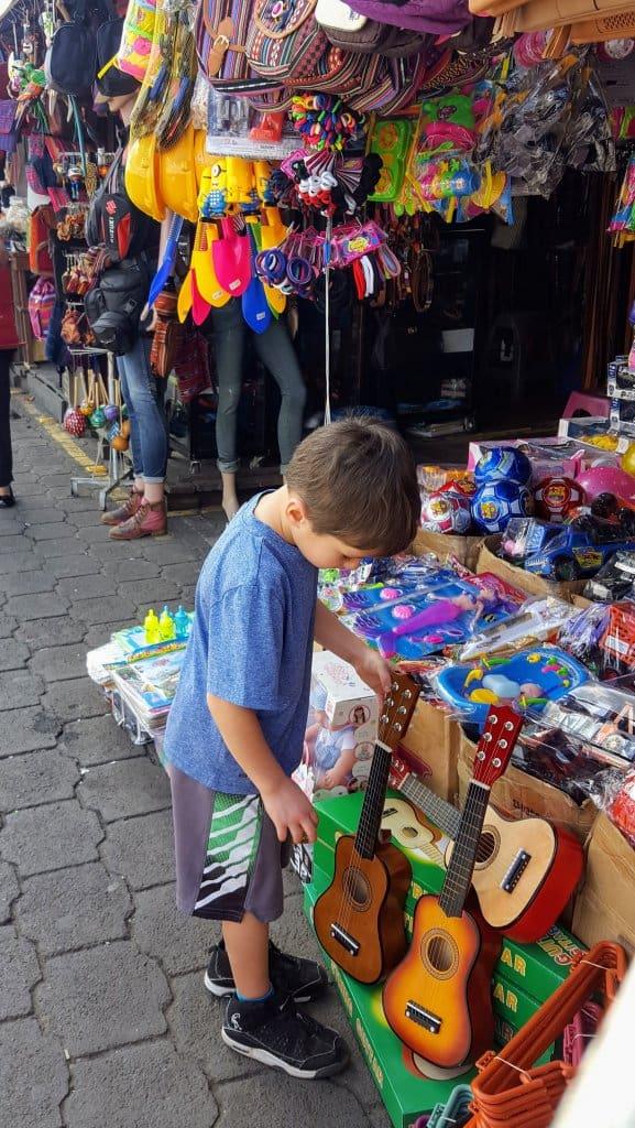 Eli checking out the Antigua Street Market