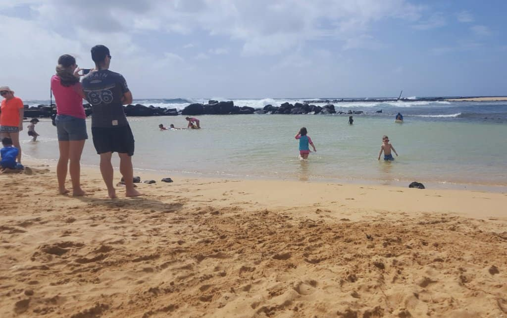 Where to stay on Kauai - The Protected Baby/Toddler pool at Poipu Beach