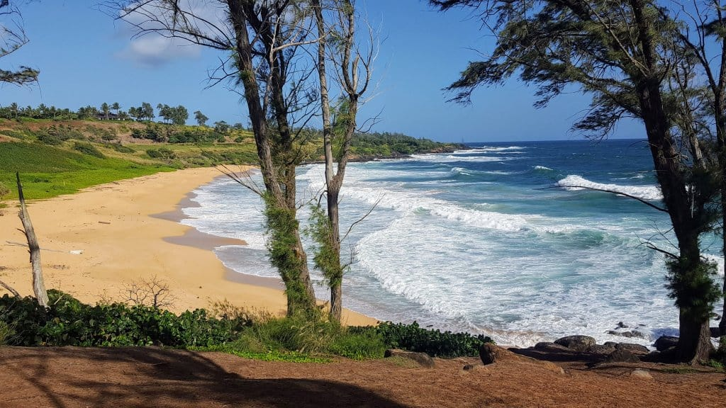 Where to stay on Kauai - Paliku Beach - Notice there is NO ONE there