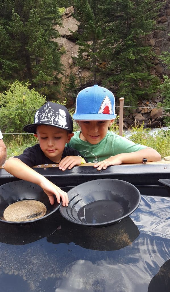 boys mining for gold at the Everett Mine in Georgetown