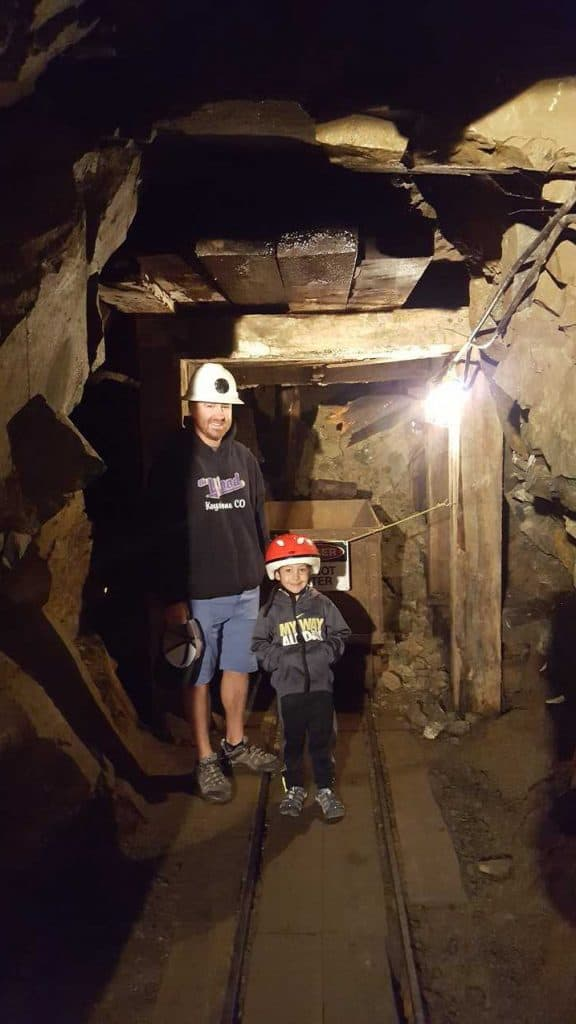 Chad and Eli in the back of the Country Boy Mine in Breckenridge, Colorado