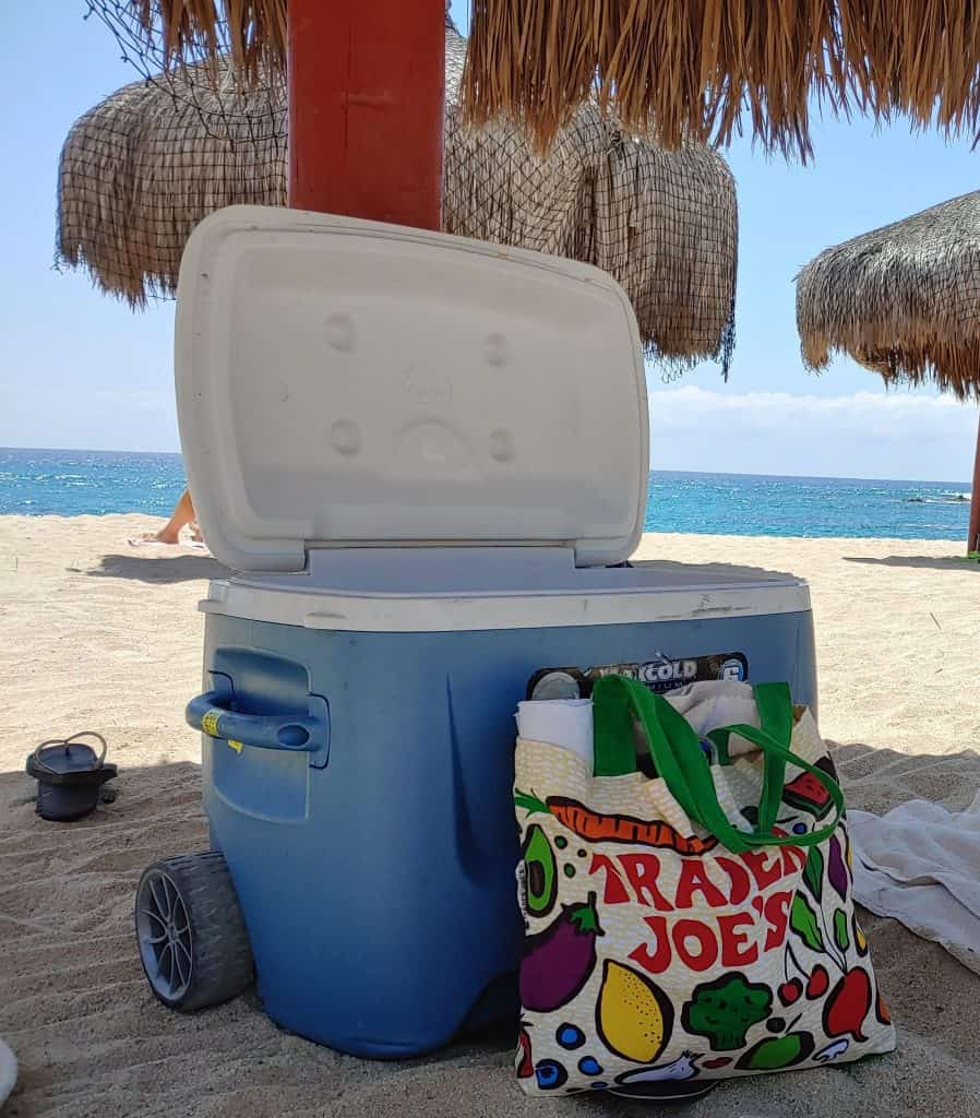 Cooler at the beach