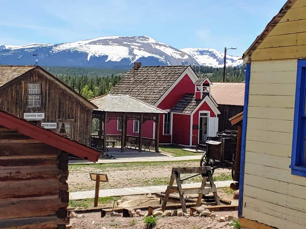 South Park City - old restored mining town in Fairplay Colorado
