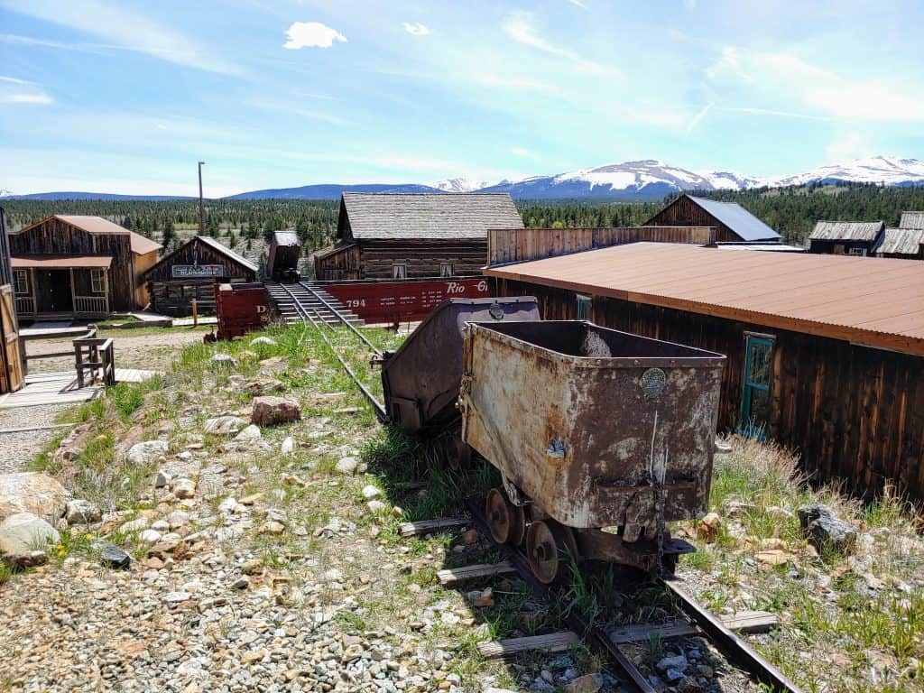 Old mining equiptment in South Park City Colorado