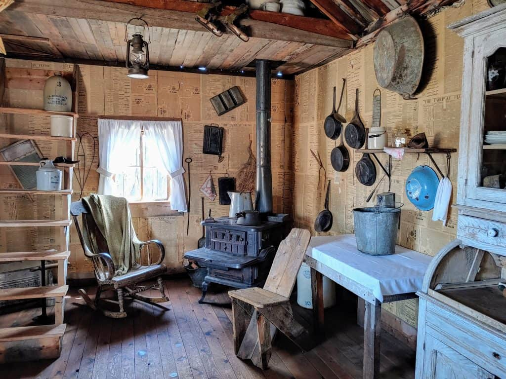 Restored mining cabin in South Park City Colorado