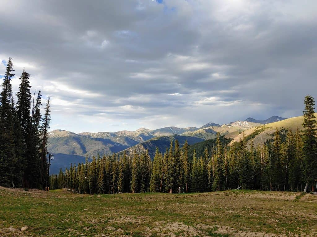 View from the top of Keystone Colorado in the summer