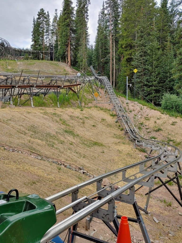 The Rocky Mountain Coaster track at Copper Mountain