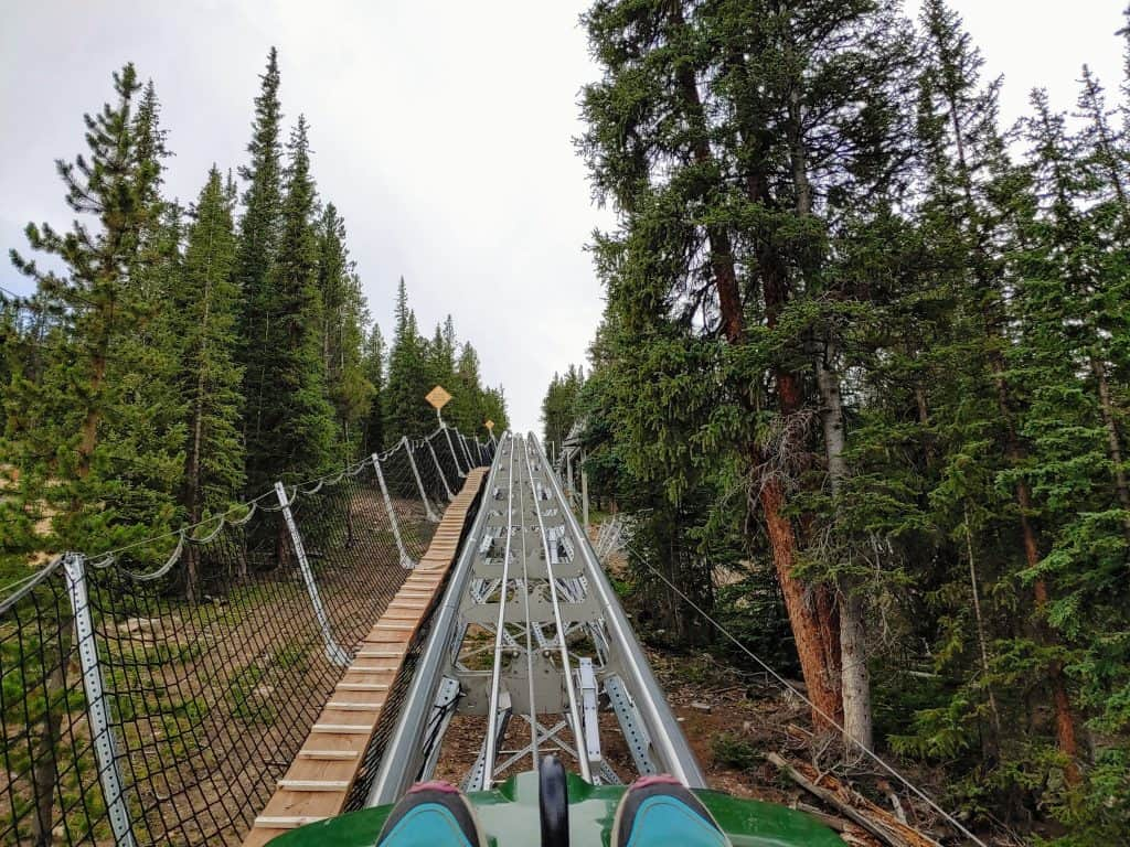 The Rocky Mountain Coaster at Copper Mountain in the Summer