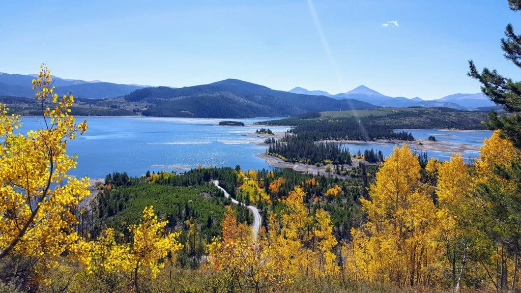 View of Lake Dillon from The Old Dillon Reservoir Trail