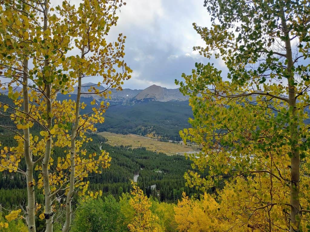 View from Boreas Pass Road looking over Blue River