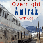 Amtrak family bedroom or sleepercar for an overnight train ride with kids