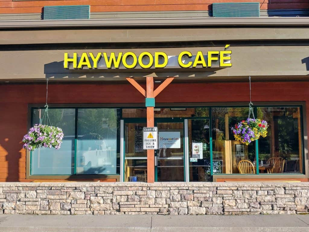 The front of the Haywood Cafe in Keystone Colorado