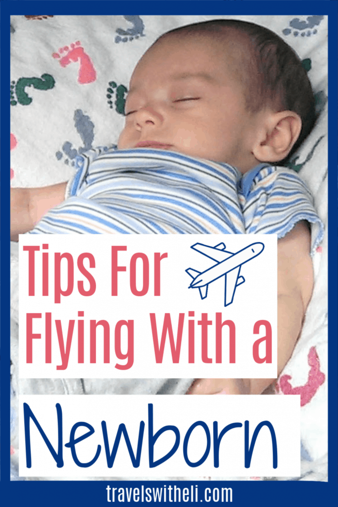tips for flying with a newborn