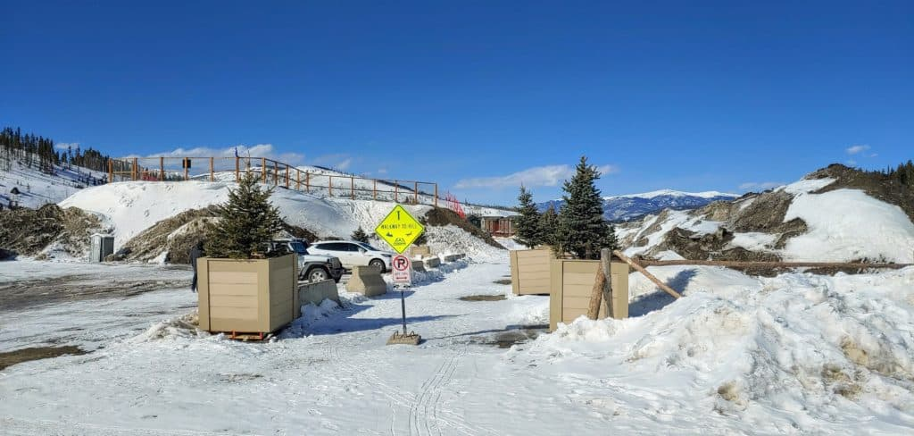 New Breckenridge Sledding Hill from the parking lot