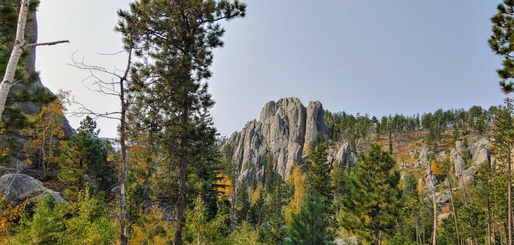 Granite Mountain tops in CuGranite moutaintops off of the Needles Highway in Custer State Park South Dakota