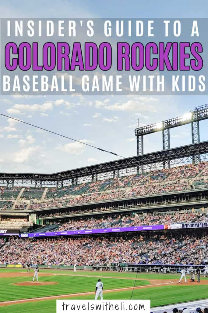 Colorado Rockies baseball game at coors field with kids