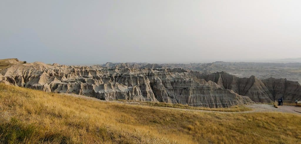 viewpoint in Badlands National Park