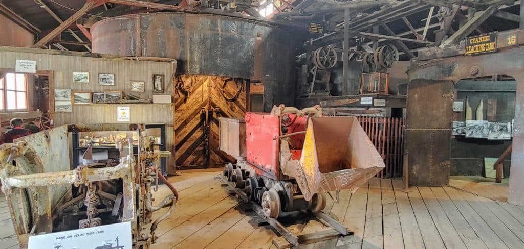 Inside the Argo Gold Mill and tunnel in Idaho Springs Colorado
