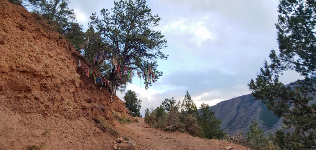 Trail to Doc Holiday's grave site in Glenwood Springs Colorado