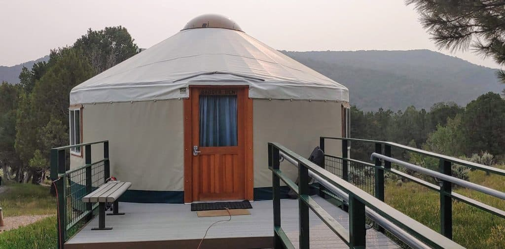 Yurt at a State Park in Colorado