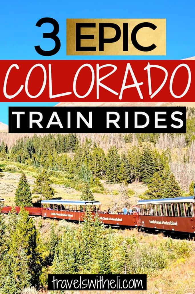 Train in the Rocky Mountains of Colorado