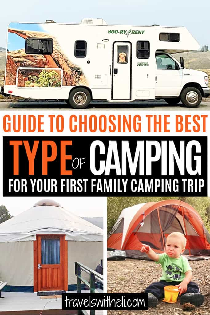 Camper, Yurt, and baby sitting in front of a tent - Guide to Choosing The Best Type Of Camping