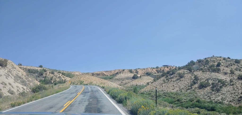 Road leading into the Black Canyon of the Gunnison National Park
