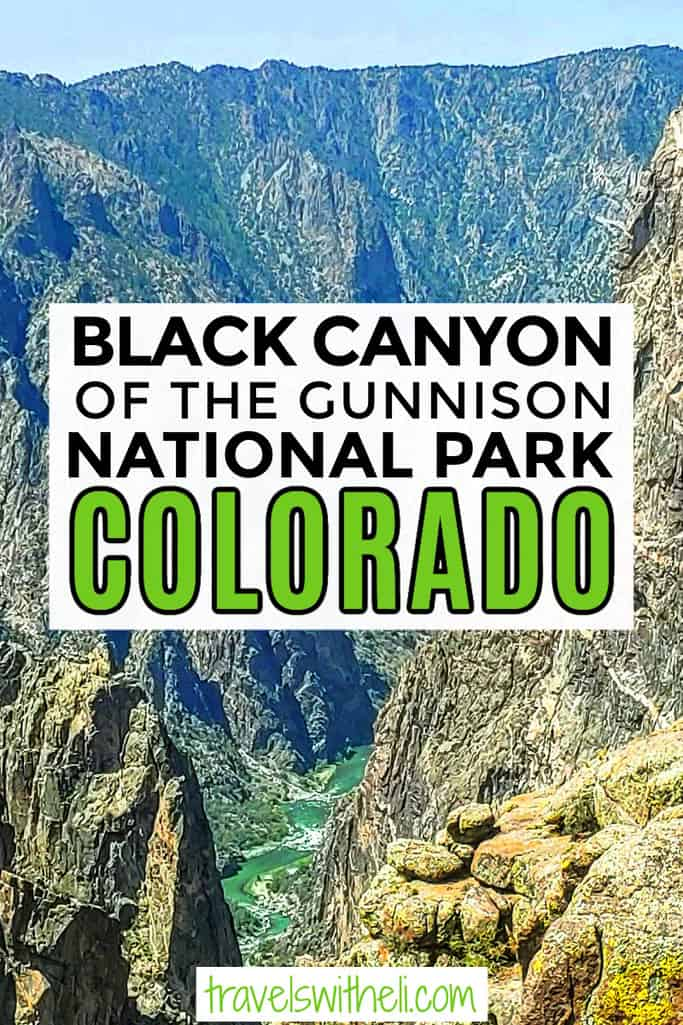 The Gunnison River running through the Black Canyon of the Gunnison National Park
